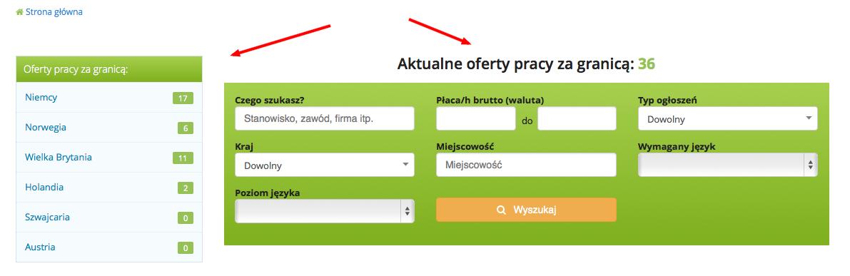 Wyszukiwarka i kategorie Jobelin.pl